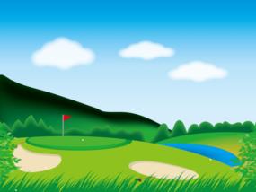 ゴルフ-コース3-イラストしゅうぽんたんさんによるイラストACからのイラスト