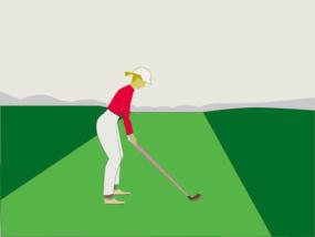 ゴルフ-セットアップbivaubuntuさんによるイラストACからのイラスト