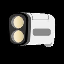 ゴルフ-距離測定機-イラスト