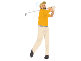 ゴルフ-ミスショット(男性)-イラスト kakeccoさんによるイラストACからのイラスト