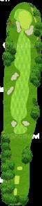 アロニミンクゴルフクラブ 13番ホール