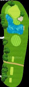 アロニミンクゴルフクラブ 17番ホール