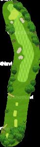 アロニミンクゴルフクラブ 2番ホール