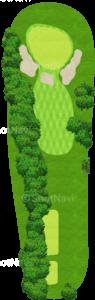 アロニミンクゴルフクラブ 5番ホール