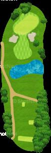 アロニミンクゴルフクラブ 8番ホール