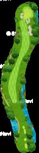 チャンピオンズゴルフクラブ サイプレスクリークコース 13番ホール