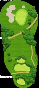 エビアンリゾートゴルフクラブ 17番ホール