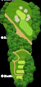 エビアンリゾートゴルフクラブ 2番ホール