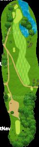 エビアンリゾートゴルフクラブ 5番ホール