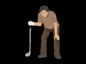 落ち込むゴルファー(男性)-イラストkakeccoさんによるイラストACからのイラスト