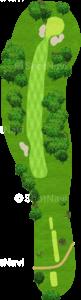 ウイングドフットゴルフクラブウエストコース 2番ホール