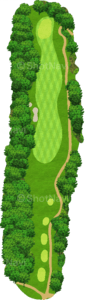 グレーストーンゴルフ&カントリークラブ ファウンダースコース 1番ホール