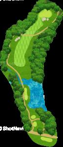 グレーストーンゴルフ&カントリークラブ ファウンダースコース 16番ホール