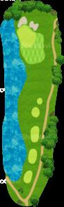 グレーストーンゴルフ&カントリークラブ ファウンダースコース 4番ホール