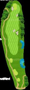 ハーバーショアーズゴルフクラブ 1番ホール
