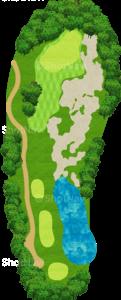 ハーバーショアーズゴルフクラブ 13番ホール