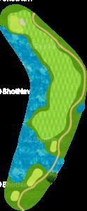 ハーバーショアーズゴルフクラブ 16番ホール