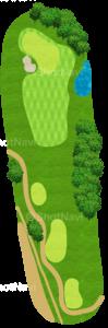 ハーバーショアーズゴルフクラブ 17番ホール