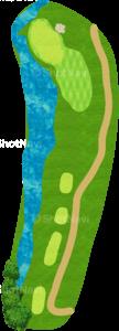 ハーバーショアーズゴルフクラブ 4番ホール