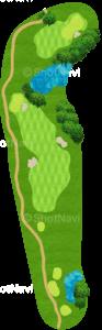 ハーバーショアーズゴルフクラブ 6番ホール