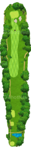 茨城ゴルフ倶楽部 東コース 11番ホール