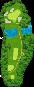 茨城ゴルフ倶楽部 東コース 13番ホール