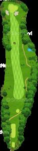 茨城ゴルフ倶楽部 東コース 16番ホール