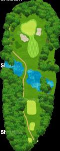 茨城ゴルフ倶楽部 東コース 17番ホール