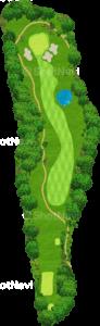 茨城ゴルフ倶楽部 東コース 4番ホール