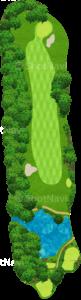 鳴尾ゴルフ倶楽部 1番ホール
