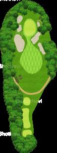 鳴尾ゴルフ倶楽部 2番ホール