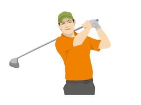 シニア-ゴルファー2-イラスト