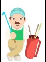 シニア-ゴルファー4-イラスト