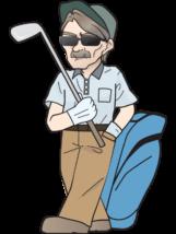 シニア-ゴルファー6-イラスト