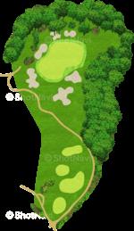 サミットゴルフクラブ 2番ホール