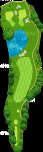 ザ・クラシックゴルフ倶楽部クイーンコース 9番ホール