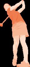 女性-ゴルファー4-イラスト