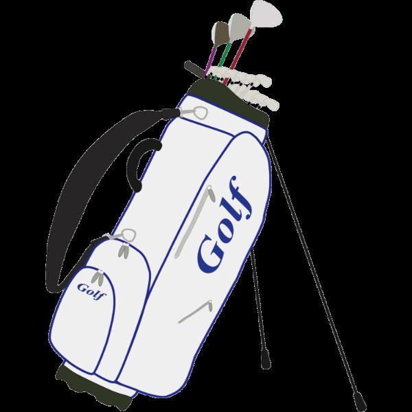ゴルフ-バッグ-スタンド式-イラスト