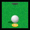 ゴルフ-ボールとマーカー-イラスト