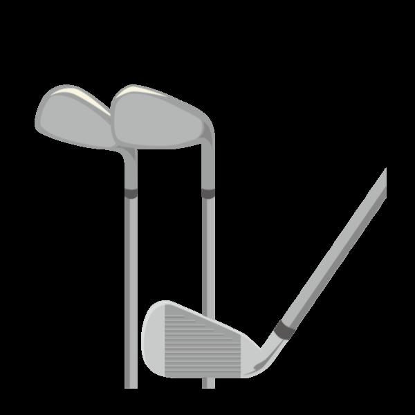 ゴルフ-クラブ(アイアン)-イラスト