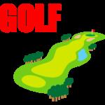 ゴルフ-コース2-イラスト