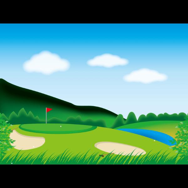 ゴルフ-コース3-イラスト