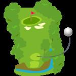 ゴルフ-コース7-イラスト