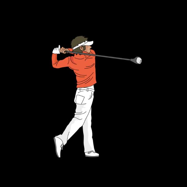 ゴルフ-ドライバー-ショット2-イラスト
