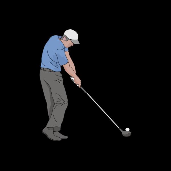 ゴルフ-ドライバー-ショット3-イラスト
