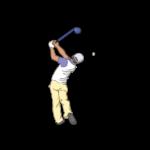 ゴルフ-ドライバー-ショット4-イラスト
