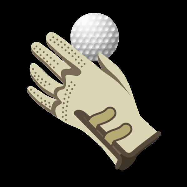 ゴルフ-グローブとボール-イラスト