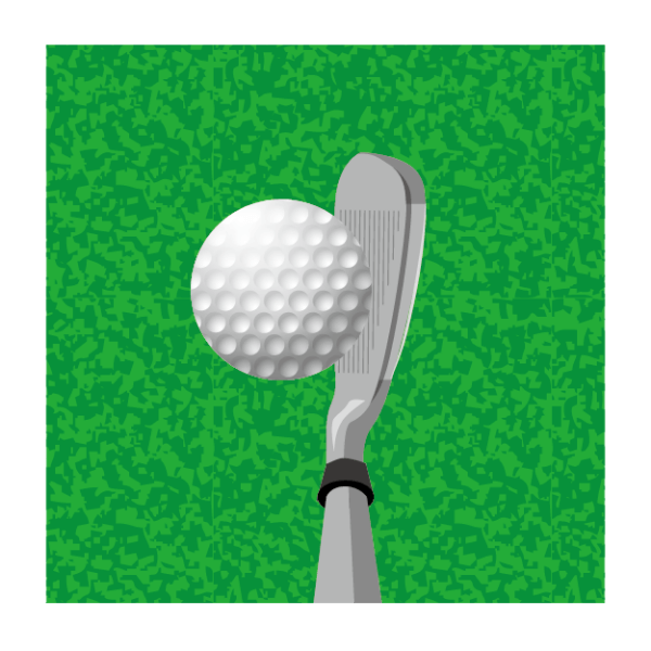 ゴルフ-アイアン-ショット-イラスト