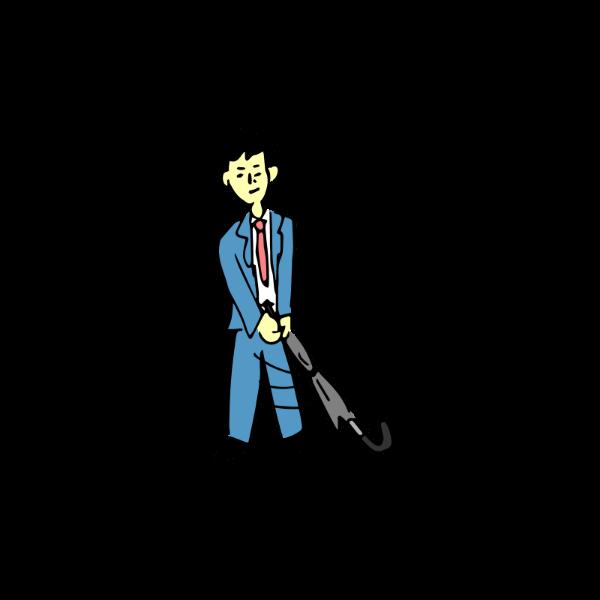 ゴルフ-サラリーマン-素振り-イラスト