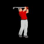 ゴルフおじさん-イラスト